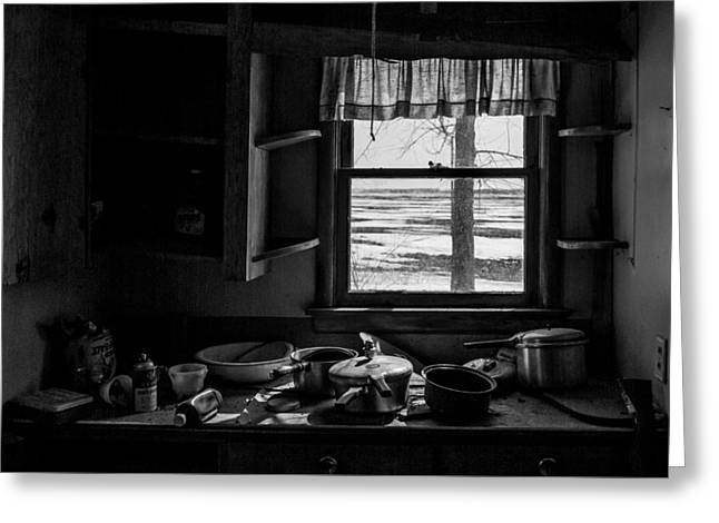 Abandoned Kitchen Greeting Card by Dan Traun