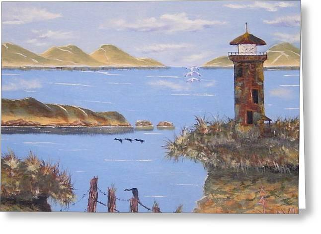 Abandoned Lighthouse Greeting Card by Larry Doyle