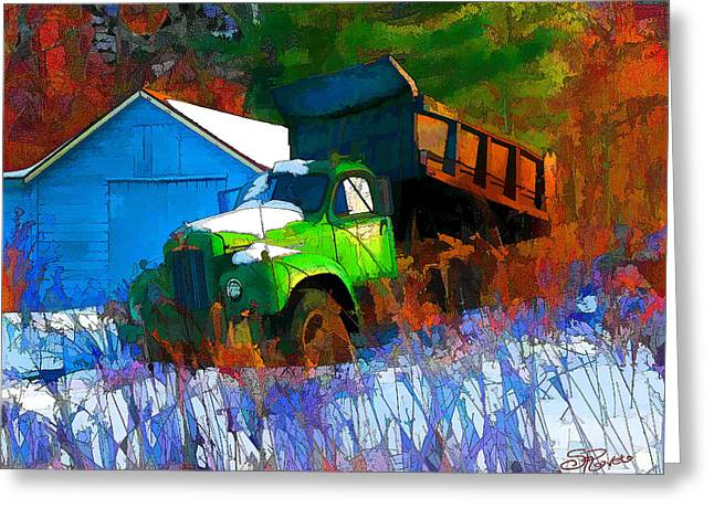 Abandoned Mack Greeting Card by Suni Roveto