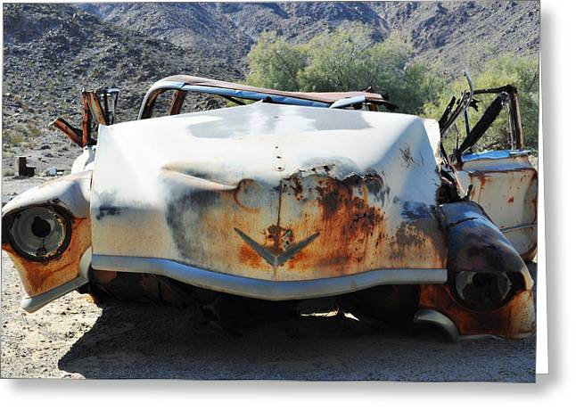 Greeting Card featuring the photograph Abandoned Mojave Auto by Kyle Hanson