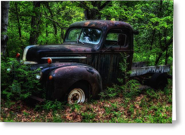 Abandoned - Old Ford Truck Greeting Card