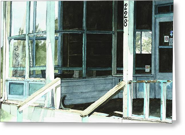 Abandoned Old Store Greeting Card by Perry Woodfin