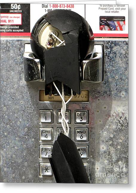 Abandoned Payphone At Glen Echo Park Greeting Card by Ben Schumin