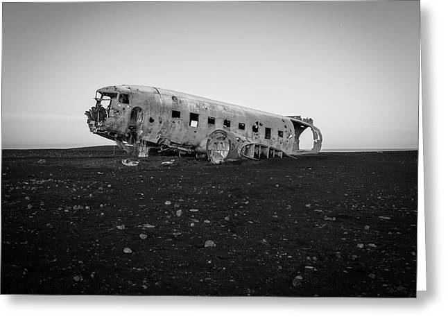Abandoned Plane On Beach Greeting Card