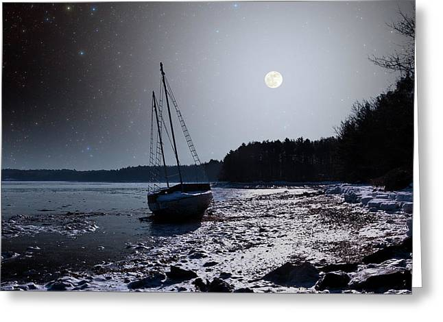 Greeting Card featuring the photograph Abandoned Sailboat by Larry Landolfi