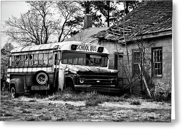 Abandoned School Bus Greeting Card by Trish Tritz