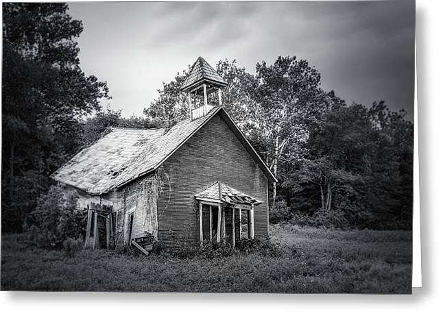 Abandoned Schoolhouse Greeting Card