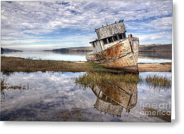 Abandoned Ship Greeting Card by Eddie Yerkish