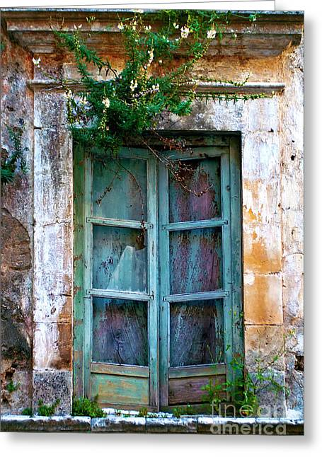 Greeting Card featuring the photograph Abandoned Sicilian Sound Of Noto by Silva Wischeropp