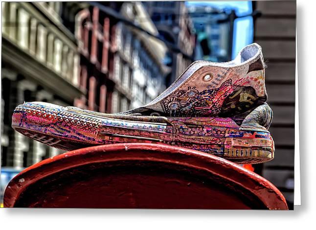Abandoned Sneaker Greeting Card by Robert Ullmann