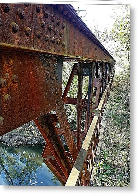 Abandoned Steel Bridge Nashville Indiana Greeting Card