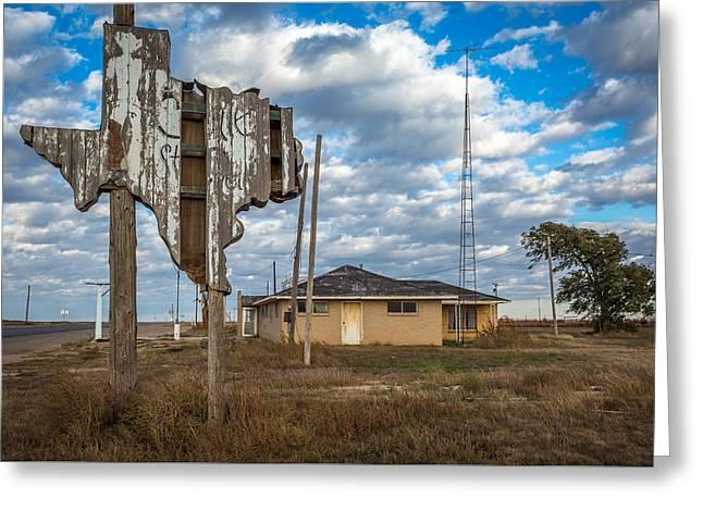 Abandoned Texas #1 Greeting Card by Jon Manjeot