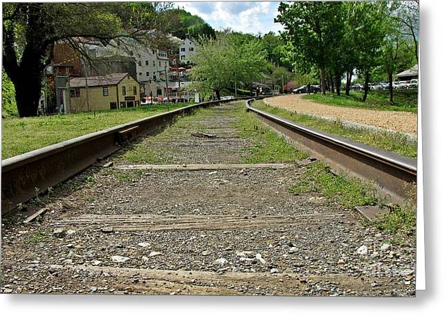 Abandoned Track At Harpers Ferry Greeting Card by Ben Schumin