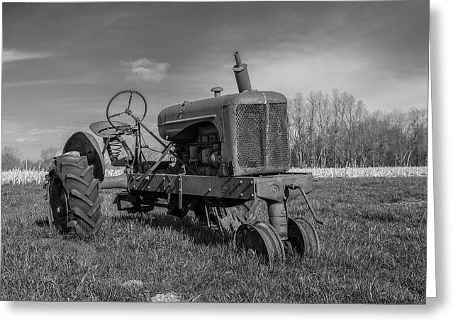 Abandoned Tractor Greeting Card by William Morris