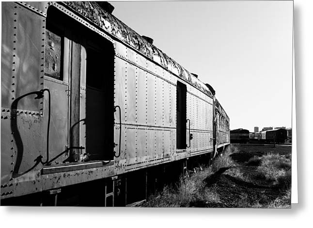 Abandoned Train Cars Greeting Card