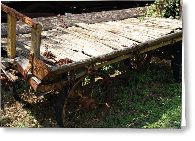 Abandoned Wagon Greeting Card by Dennis Stein