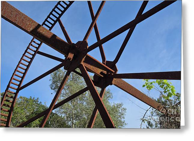 Abandoned Water Extraction Wheel Mechanism 2 Greeting Card by Angelo DeVal