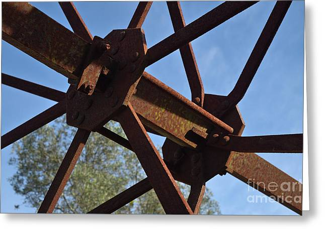 Abandoned Water Extraction Wheel Mechanism 3 Greeting Card by Angelo DeVal