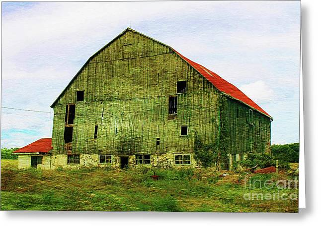 Abandoned Wooden Barn Greeting Card by Anthony Djordjevic