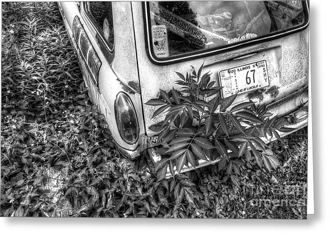 Abaondoned Car Along Route 66 Greeting Card by Twenty Two North Photography