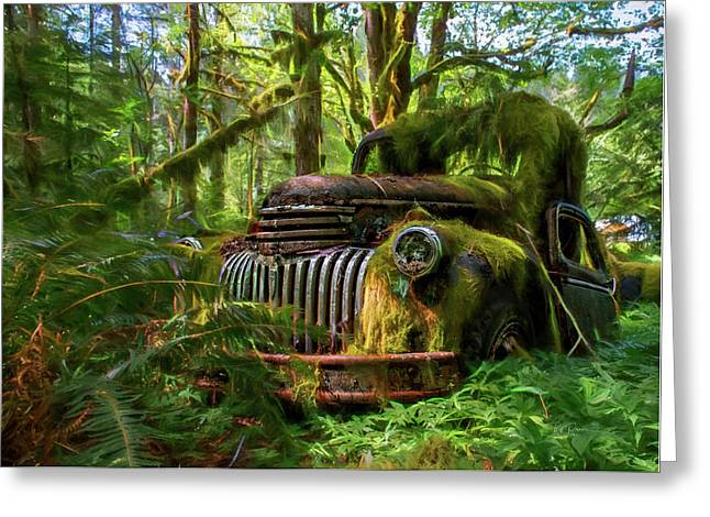 Abandoned In Forest Greeting Card