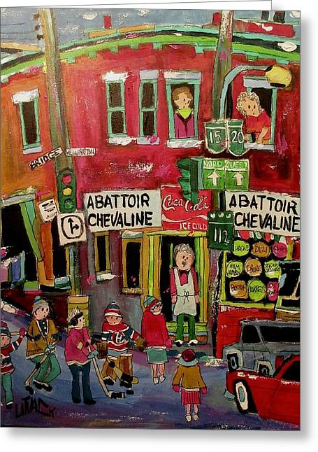 Abattoir Chevaline In The Point Greeting Card by Michael Litvack