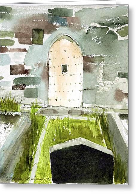 Abbey Door Greeting Card