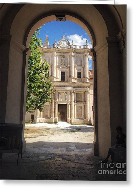 Abbey Of The Holy Spirit At Morrone In Sulmona, Italy Greeting Card