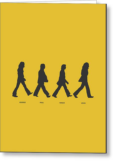 Abbey Road Yellow Greeting Card by Renato Kolberg