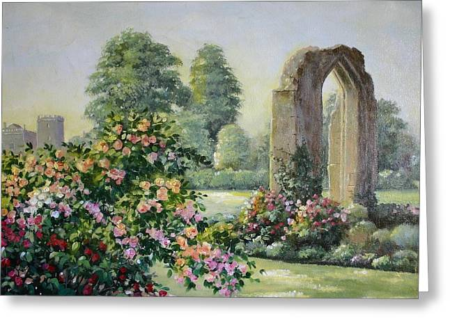 Abbey Ruins At Sudeley Castle Greeting Card