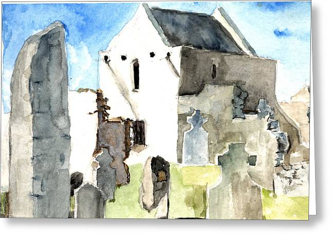 Abbey Watercolor Greeting Card