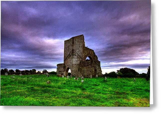 Abbeylara Abbey Greeting Card by Kim Shatwell-Irishphotographer