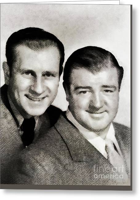 Abbott And Costello Greeting Card