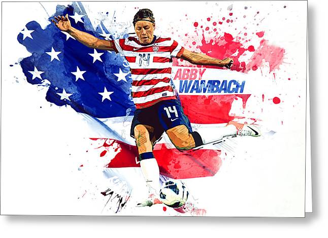 Abby Wambach Greeting Card