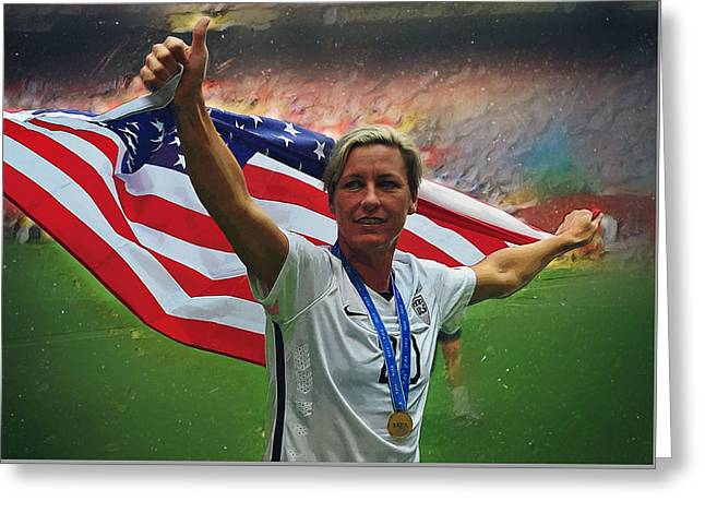 Abby Wambach Us Soccer Greeting Card by Semih Yurdabak
