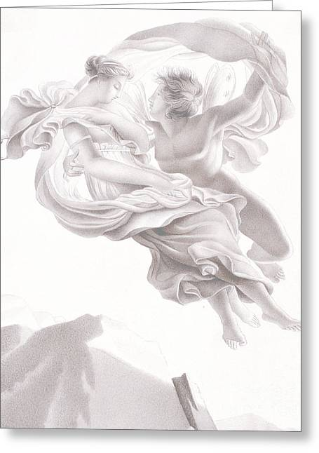 Abduction Of Psyche Greeting Card