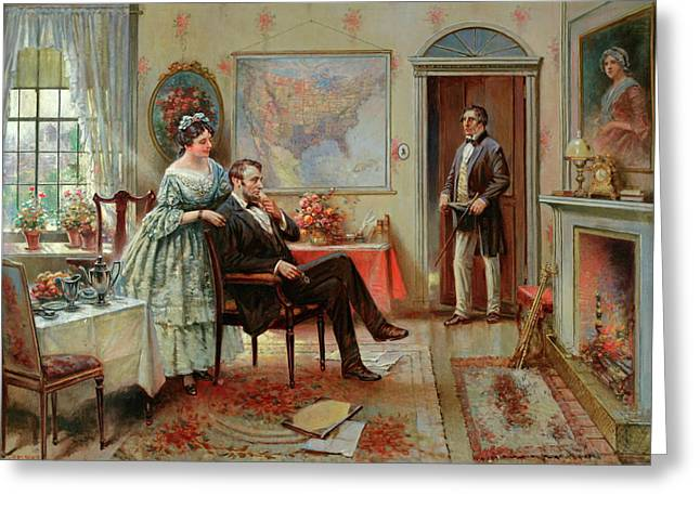 Abe And Mary Todd Lincoln Greeting Card