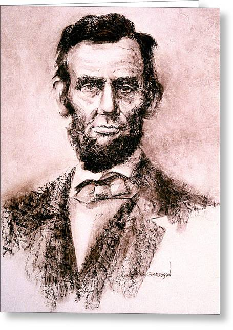 Abe Greeting Card by David Garrison