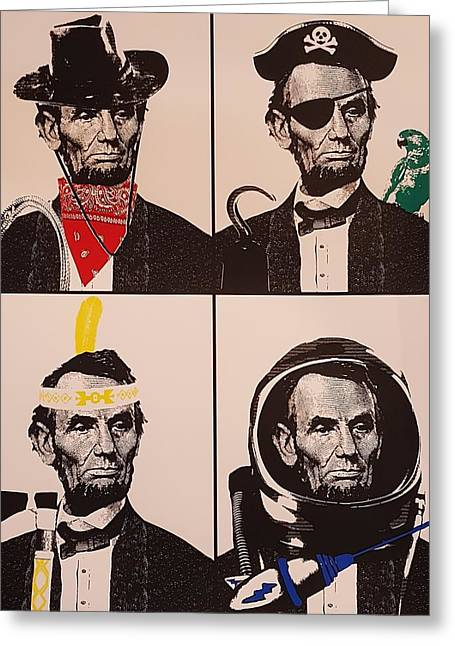 Abe Does It All  Greeting Card by Rob Hans