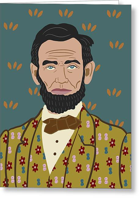 Abe Lincoln Greeting Card by Nicole Wilson