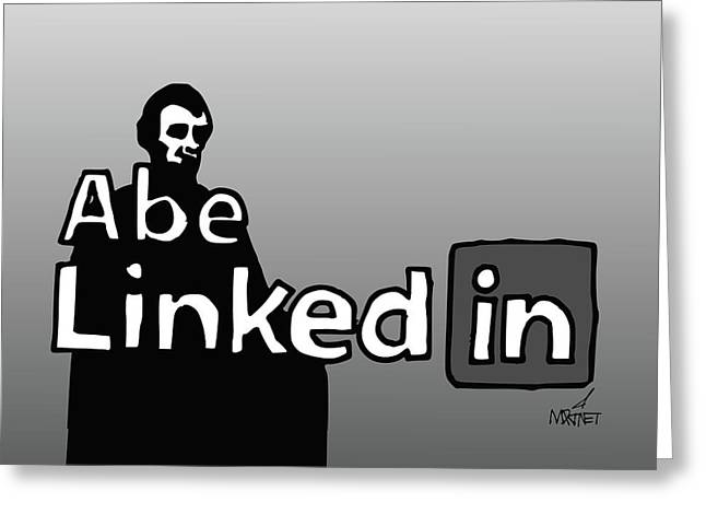 Abe Linkedin Greeting Card