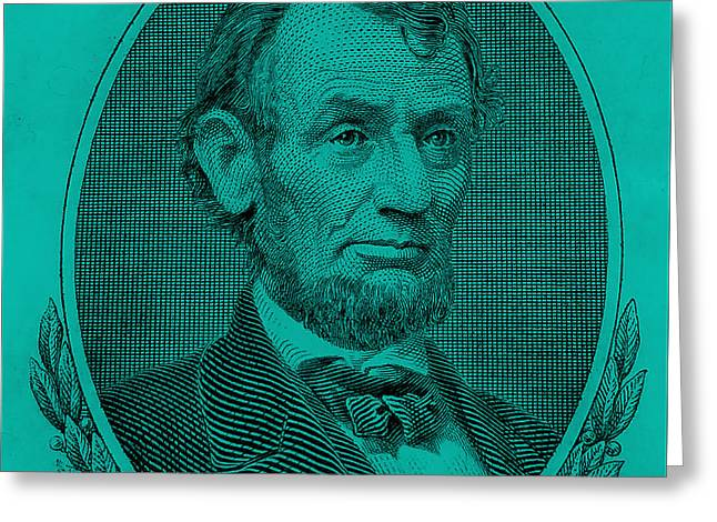 Greeting Card featuring the photograph Abe On The 5 Turquoise by Rob Hans