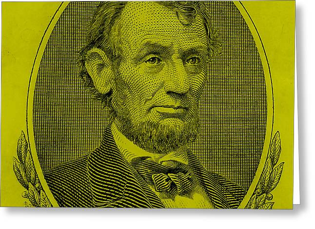 Greeting Card featuring the photograph Abe On The 5 Yellow by Rob Hans