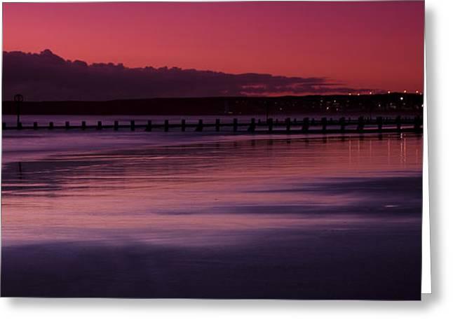 Aberdeen Beach After Sunset Greeting Card