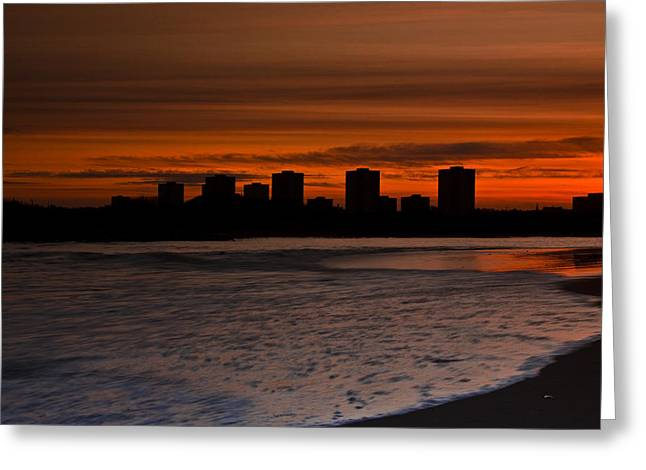 Aberdeen By Sunset Greeting Card