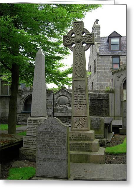 Aberdeen Grave Markers Greeting Card by Deborah Smolinske