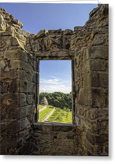 Greeting Card featuring the photograph Aberdour Castle by Jeremy Lavender Photography