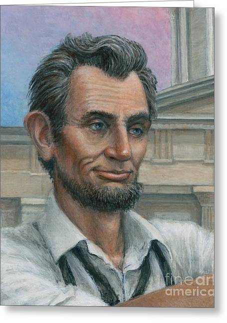 Abe's 1st Selfie - Detail Greeting Card by Jane Bucci