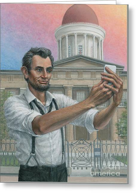 Abe's 1st Selfie Greeting Card by Jane Bucci