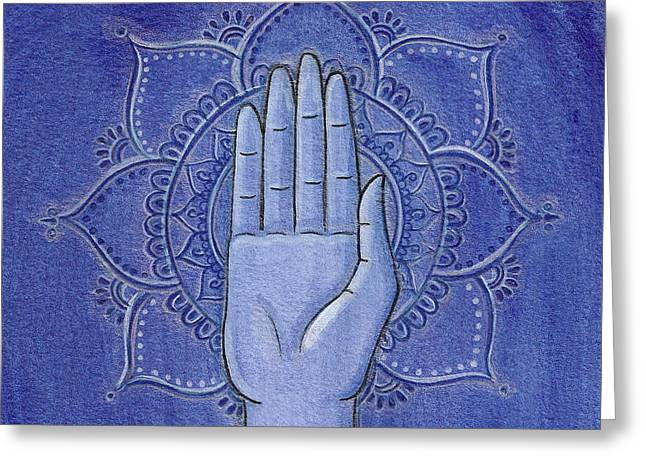 Abhaya Mudra 2 Greeting Card by Sabina Espinet